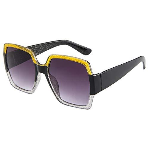 Sonnenbrille, quadratisch, klein, Unisex, leicht, modisch, Retro-Brillenrahmen, E