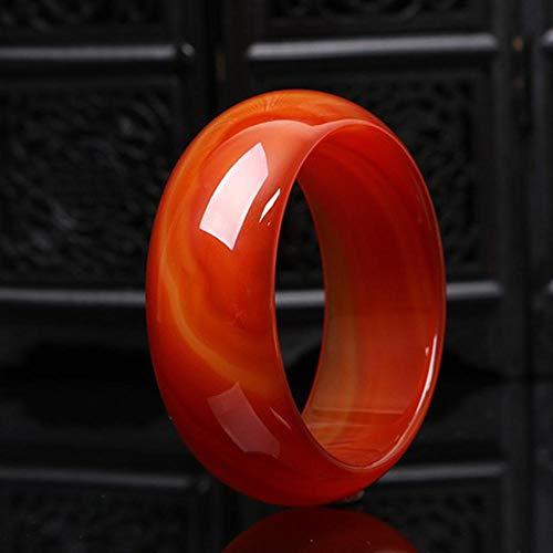 Yarmy Jade Armband,Natürlicher Roter Achat Armband A Ware Damenmode Chalcedon Schmuck Dieses Jahr Red Jade Marrow Armband (Jade Rot)