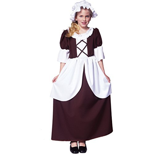 Girl Colonial Kinder Kostüm - RG Costumes Colonial Girl Costume, Brown/White, Small by RG Costumes