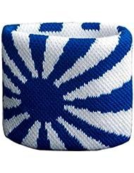 Schweißband Motiv Fahne / Flagge Blau-Weiß + gratis Aufkleber, Flaggenfritze®