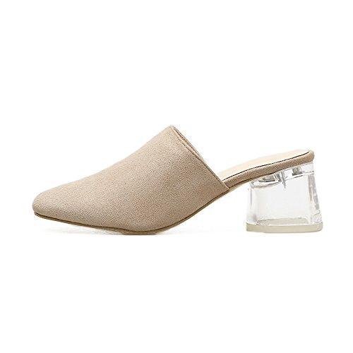 Gtvernh-femmes Xia Jiping Chaussures À Talons Baotou Lourd Talon Chaussures Imperméables Baotou Haut Talon Deux Chaussures Simples Transparents Et Semi-pantoufles, 35 Trente-cinq