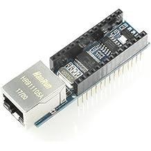 Ethernet Shield, Erweiterung für Arduino Nano mit ENC28J60, RJ45, z.B. für Webserver-Applikationen, IoT