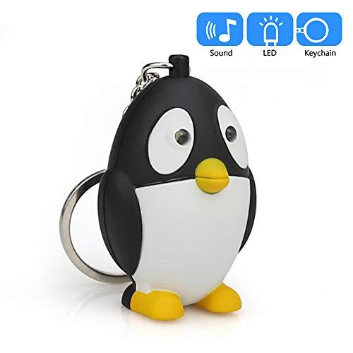 jieGREAT Räumungsverkauf Netter Karikatur-Pinguin mit LED-Licht und Ton Keyfob Kids Toy Gift - 1-dollar-schlüsselanhänger