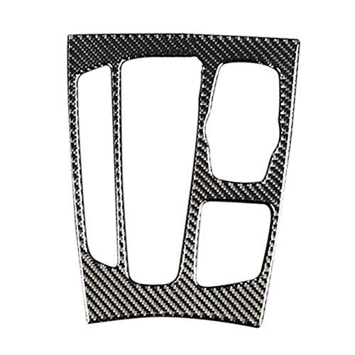TOOGOO Engrenage De Commande Panneau De Changement Garniture en Fibre De Carbone Automobile pour BMW X5 / X6 / F15 / F16 2014-2017