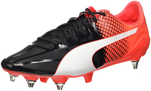 Puma Evospeed 1.5 Tricks Mixed Sg, Chaussures de Football Compétition Homme Noir - Schwarz (puma black-puma White-Red blast 03)