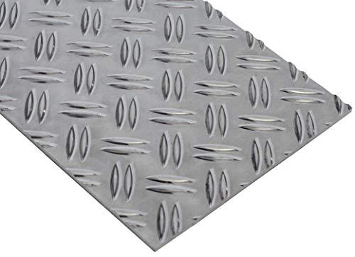 Aluminium Riffelblech Duettblech 3,5x5mm 2,5x4mm 1,5x2mm (3,5x400x200mm)