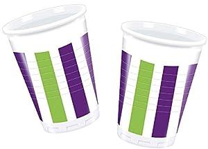 Procos PR80752 - Vasos de plástico (200 ml, 10 unidades), multicolor