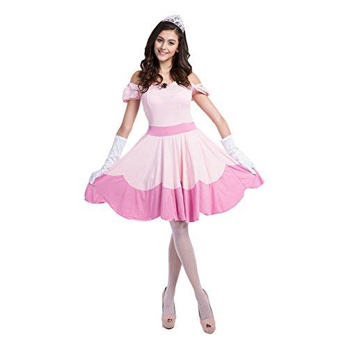 rchen Kostüm Cosplay Damen für Fasching Halloween, Rosa Einheitsgröße (Rosa Damen-halloween-kostüm)