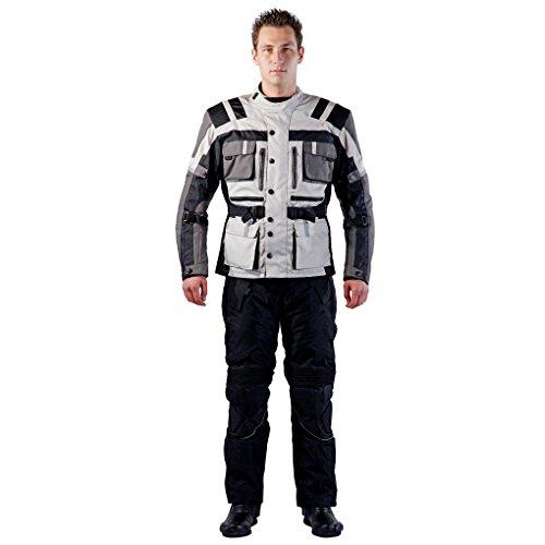 *Lemoko Textil Motorradkombi Zweiteiler grau schwarz Gr S*