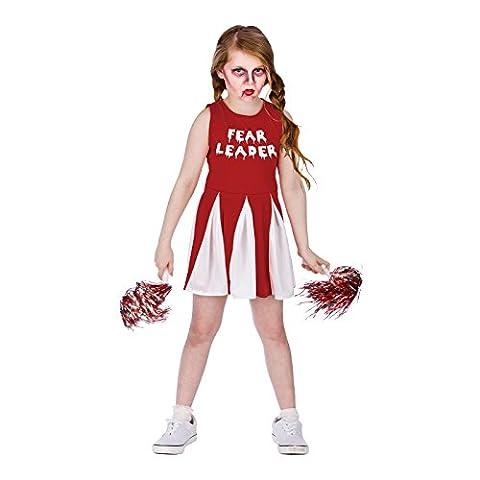 Fear Cheer Leader Halloween / Carnaval Fancy Dress Costume pour enfants 5 - 7 ans - 122-134cm