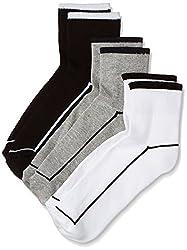 Van Heusen Mens Socks (Pack of 3) (VXT11154_White, Black and L.Grey)