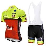 Threeface Panta con Bretelle Ciclismo PRO Team Salopette Estiva Bici MTB