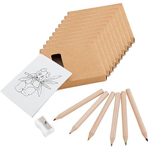 Partituki 10 Packs para Colorear. Cada Uno con 6 Lápices de Colores,...