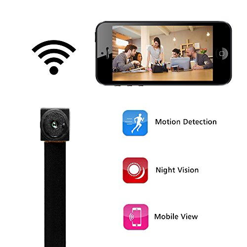 Mini Kamera, Bysameyee WiFi Wireless Video Recorder mit Bewegungserkennung, HD 1080P IP Security Cam für Home Office - Kamera-recorder Security