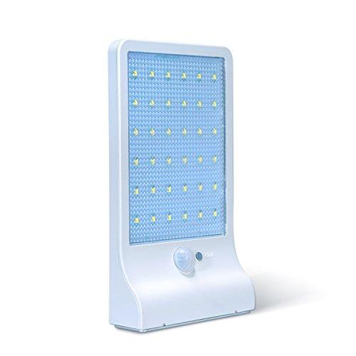 36 LEDs KingTop Leistungsstarke Solarleuchte mit Bewegungsmelder Wasserdicht