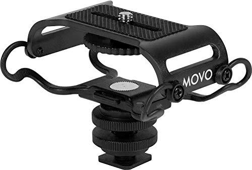 MOVO Supporto antivibrazione Universale SMM5 con aggancio per Fotocamera con Filettatura di Fissaggio Œ' - Adatto allo Zoom H4n, H5, H6, Tascam DR-40, DR-05, DR-07 & registratori Simili