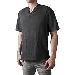 Camiseta de Yoga con cuello en V thai hombre