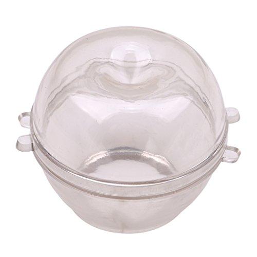 Jixing Kerzenform klar Kunststoff Teelichtschalen Kerze Schimmel, transparent (Durchmesser 4,2 * Höhe 6 cm), 7,3 cm