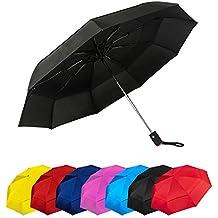 Paraguas Plegables Automático Antiviento Paraguas Originales de Colores Mujer Hombre Ligero Resistente y Compacto. Tela