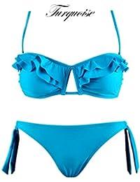 Maillot de bain femme bikini 2 pièces push up - Plusieurs couleurs