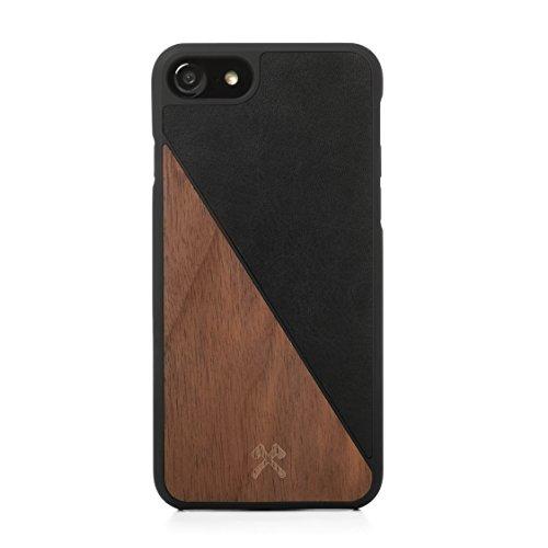 Woodcessories - Hülle kompatibel mit iPhone 7/8 aus FSC Holz - EcoSplit Case (Walnuss/Schwarz)