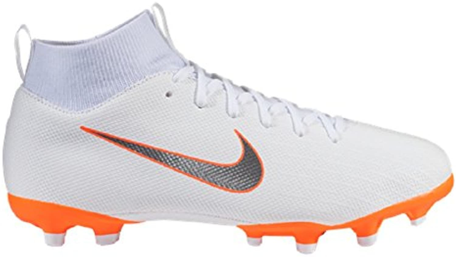 Nike Bota Mercurial Superfly VI Academy MG Junior Talla 33.5 JR, Color Blanco, Naranja Flúor