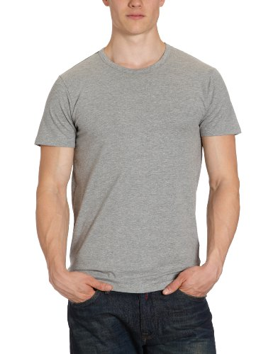 JACK & JONES Herren T-Shirt 12058529 Basic O-Neck Tee Grau (LIGHT GREY MELANGE JJ LIGHT GREY MELANGE)