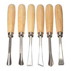 KABEER ART HEAVY DUTY 6 PCS WOOD CARVING CHISEL SET FOR HOME & PROFESSIONAL USE