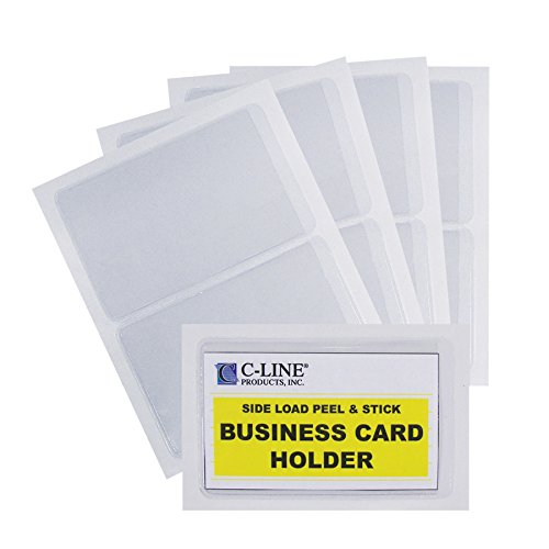 c-line-2-x-35-inch-self-adhesive-business-card-holders-clear-10-per-pack