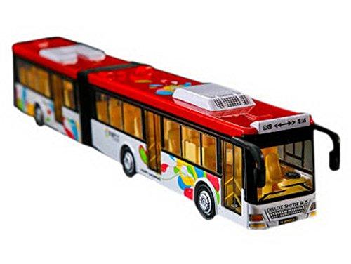 Modell Transport Autos Hobby Spiel Spielzeug für Kinder, Doppel Festival Bus, Rot (Bauen Festival)