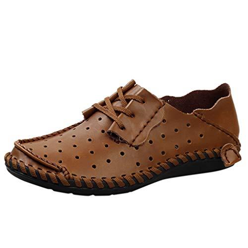 Faule Schuhe Herren Business-Schuhe Sommer Schuh-Breathable Lederschuhe Mesh Tuch Outdoorschuhe Trekking Arbeitsschuhe Leichtgewicht Freizeitschuhe Sneaker -