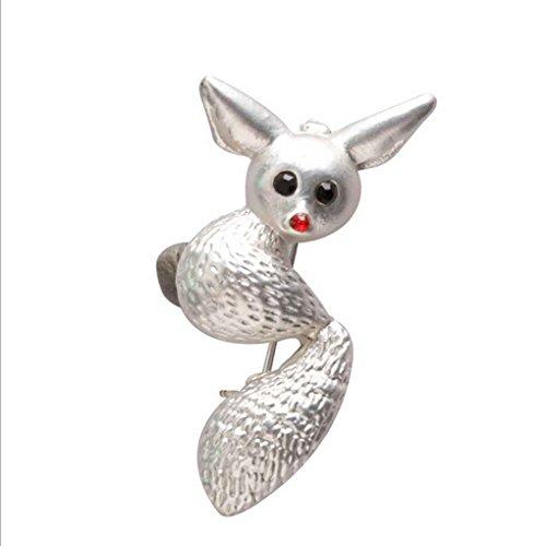 Fox Alloy Brosche mit Kristall Dekor Brosche für Kragen Schal (Basketball-brosche)