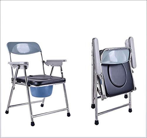 WZB - Wheelchair Drop Arm Commode Mobility Multifunktions-Klappstuhl für Kommoden am Bett Komfortable Armlehne für Ältere Menschen mit Behinderung Einfache Montage Ohne Werkzeug -