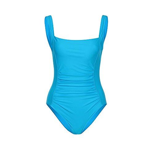 PinkLu Badeanzug Damen Mode Drucken GroßEr Bikini Mit Riemen GüNstig Bequem Schwarzer Blauer Dunkelblauer Badeanzug FrüHling Und Sommer HeißEr Dreieck Badeanzug (XX-Large, Blau)