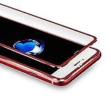 VIUME iPhone 7 Plus / 8 Plus Protector de Pantalla, 3D Cristal Templado para iPhone 7 Plus/iPhone 8 Plus Cobertura Completa Cristal Vidrio Templado Premium - 5.5' (Metal Rojo)