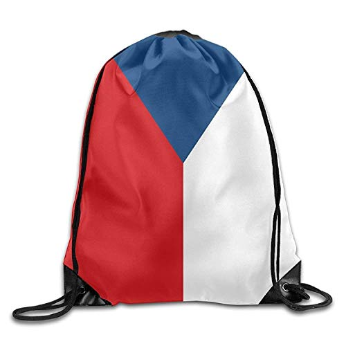 (Cupsbags Czech National Flag Personalized Gym Drawstring Bags Travel Backpack Tote School Rucksack)