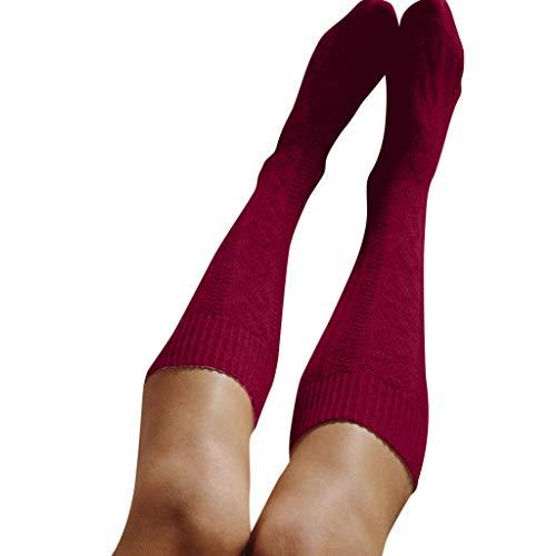 LEEDY Stricken High Socks Socken, Damen Warme Kniestrümpfe Warme Sport Beinlinge Leggings Strümpfe Baumwollstrümpfe Kompressionsstrümpfe Socks
