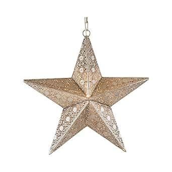 Pajoma Suspension étoile en métal, longueur 40cm 13172