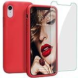 JASBON Hülle für iPhone XR, Silikon Handyhülle mit Kostenfreier Schutzfolie Schutz vor...