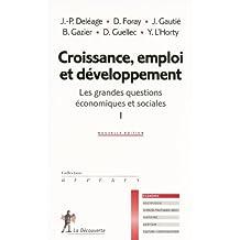 Croissance, emploi et développement (01)