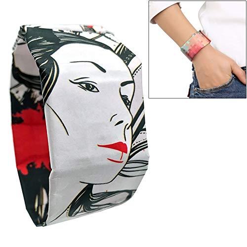 Belle Maison Creative Ghost Danceing Girl Pattern Kreative Mode Wasserdichtes Papier Uhr Intelligentes Papier Elektronische Armbanduhr Dupont Paper Watch
