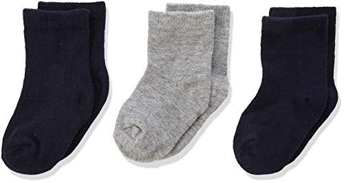 NAME IT Baby-Jungen Socken NBMSOCK 3P DARK SAPPHIRE 3er Pack, Mehrfarbig, Neugeboren (Herstellergröße: 62/68)