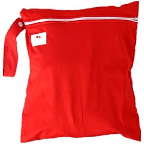 Impermeable Zipper Bolsa lavable reutilizable gamuza de bebé bolsa de pañales