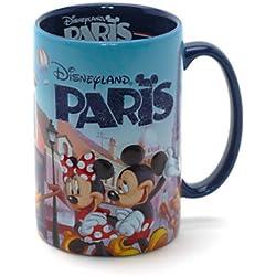 Taza grande, diseño de Disneyland París, alto de 13cm y diámetro de 8,5cm, aprox.