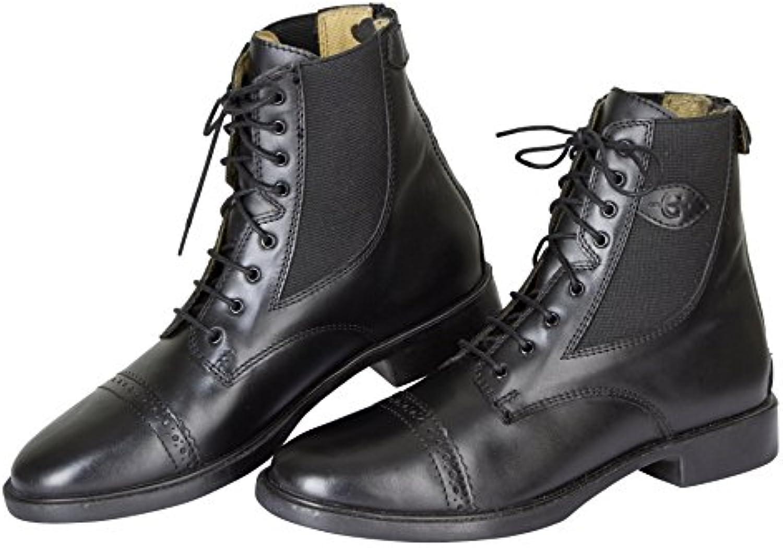 Kerbl Schnürstivaliette Monaco Glattleder, nero Gr. 43, Calzature da equitazione unisex adulto | Prima Consumatori  | Uomo/Donna Scarpa