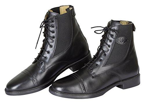 Kerbl Schnürstiefelette Monaco Glattleder, Schwarz Gr. 41, Chaussures d'Equitation adulte mixte