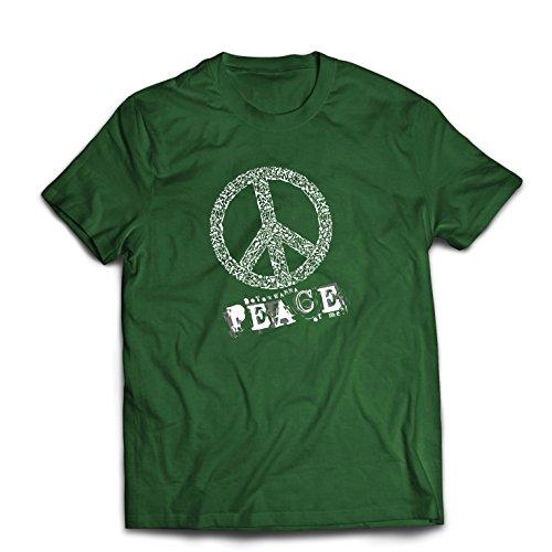 st Du Stück von Mir - Frieden Slogan, 60er 70er Hippie - Hippie Festivals, Hipster Swag (XX-Large Dunkelgrün Mehrfarben) (Mama Und Mir Kostüm)