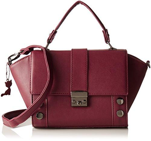 Lollipops Damen Ashton Bag Schultertasche, 13x17x32 cm Rot (Wine)