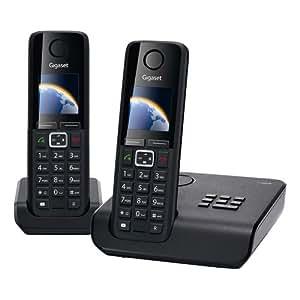 Gigaset C300A Duo Téléphone sans fil DECT/GAP avec répondeur 2 combinés Noir