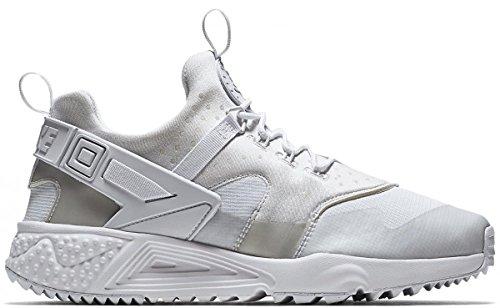 Nike Air Huarache Utility, Baskets Basses Homme, Noir (Schwarz), 44 EU Blanc Cassé - Blanco (White/White-White)